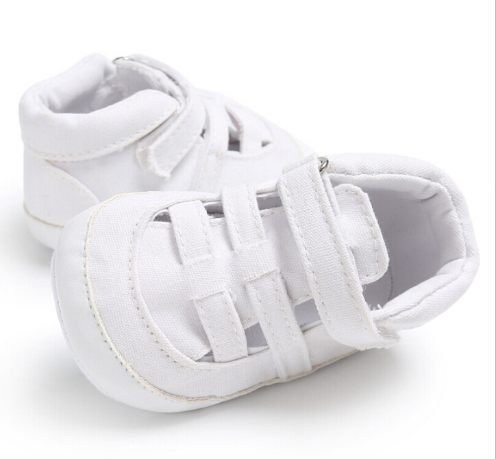 Summer Casual Baby Kids Soft Crib Shoes Sandals Boy Girl Infant Bandage Sole Shoes Prewalkers Blue White Black