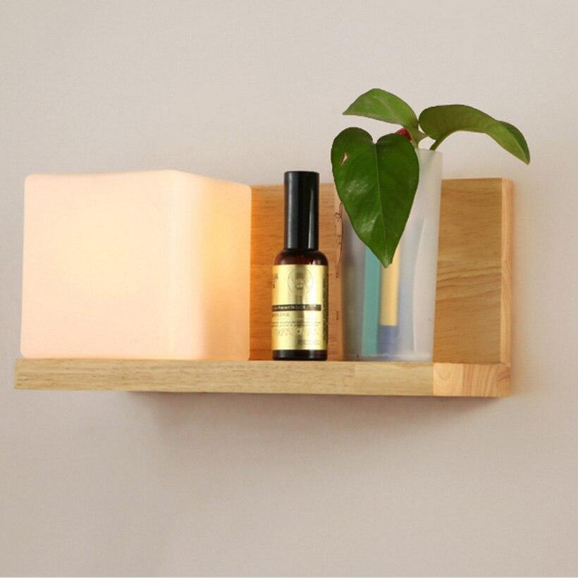 modern simple bedroom wall lamps living room lights led creative Bedside Wall Shelf