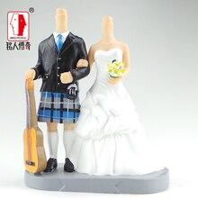 Wedding gift custom wedding cake topper resin body / creative gifts / clay dolls / custom / clay doll body SR261