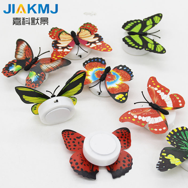 10 Pcs/ Wall Stickers Butterfly Glow LED Lights Wall Stickers 3D Butterflies House Decoration For Children Dropshipping