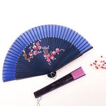 Винтажный китайский складывающийся веер из бамбукового шелка ручной вентилятор высокого качества рождественские подарки Домашнее украшение 25