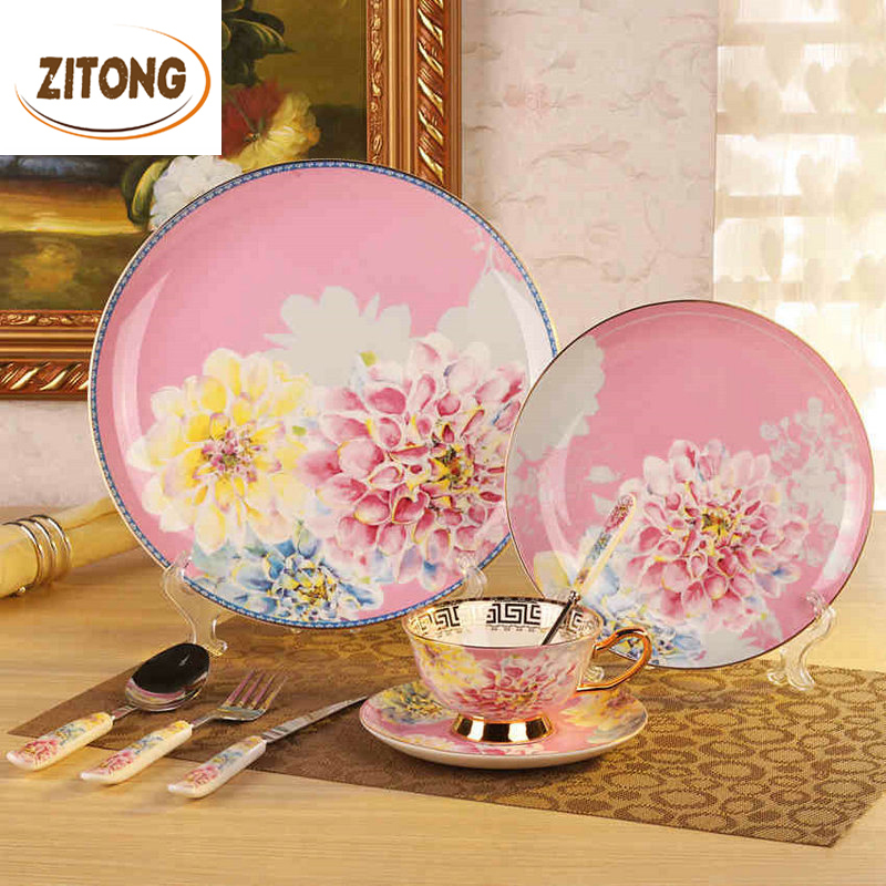Royal Bone China Dinnerware Set Tableware Dishes And Plates Ceramic Dinner Knives And Forks ... & Royal Bone China Dinnerware Set Tableware Dishes And Plates Ceramic ...
