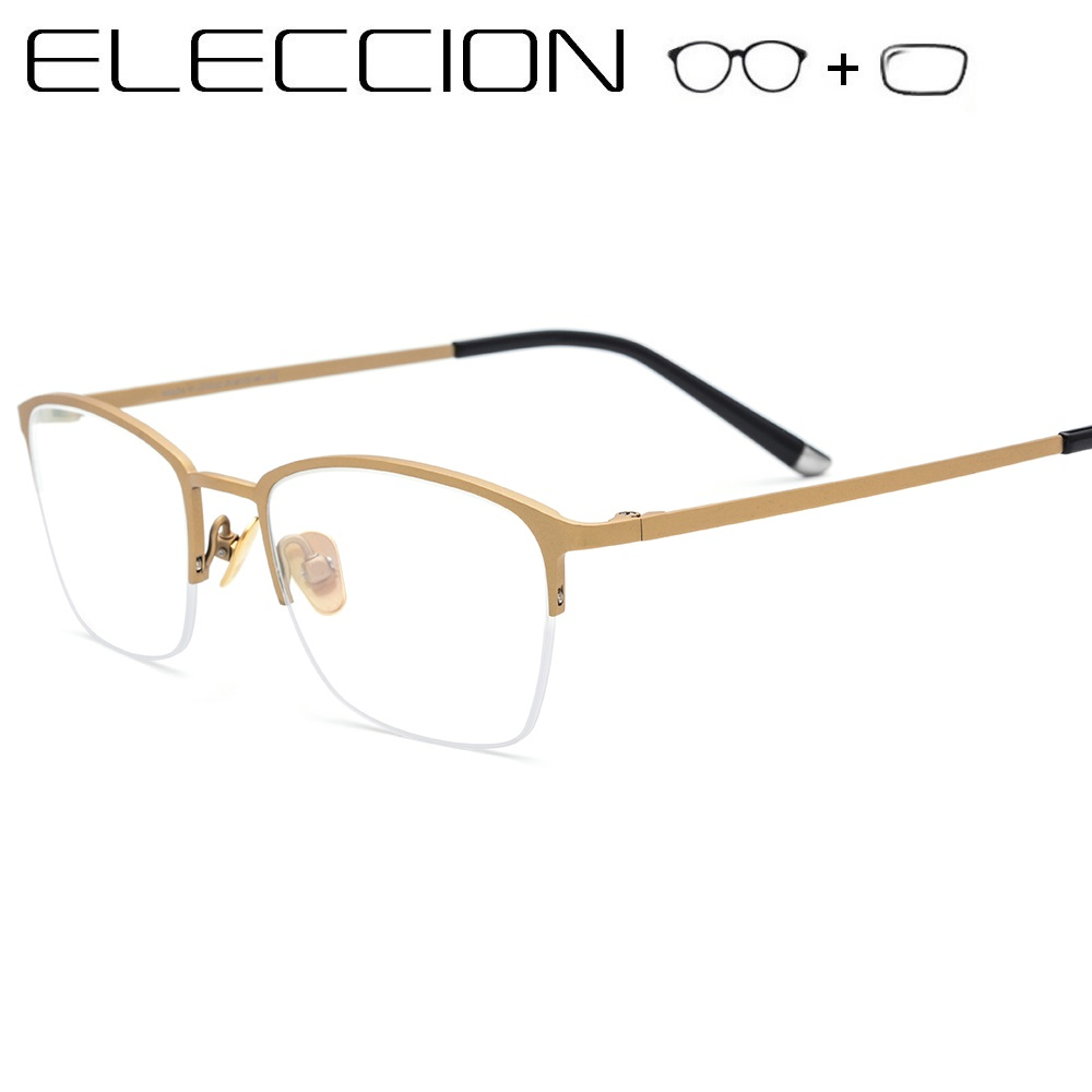ELECCION Myopia Prescription Glasses Women Men Optical Eyeglass Ultralight Pure Titanium Frame Eyewear Eyeglasses With Diopter(China)