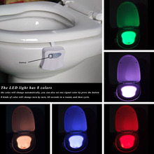 led night light luminaria night lamps lamparas lampe toilet light Colorful Motion Sensor Automatic Toilet Hanging Light