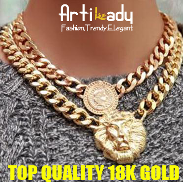 Artilady coming! 2colors(gold/silver) lion beauty necklace Artilady 18k gold / silver choker  necklace brand jewelry