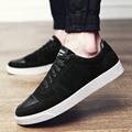 2017 Новый Мужчины Повседневная Обувь Высокого Качества Модного бренда Плоским Холст Обувь Мужчин Зашнуровать Досуг Черный Красный Серый