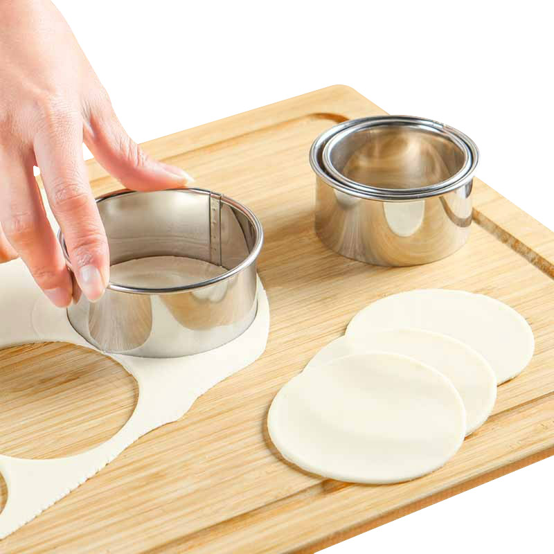 3 Teile Satz Schneiden Geback Kreise Kuchen Form Brot Cookies