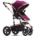 Ebola baby stroller can sit and lie and baby reversing four round high shock landscape children handcart