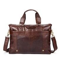 Men S Briefcase Business Genuine Leather Casual Men S Shoulder Diagonal Baotou Leather Handbag Male Bag