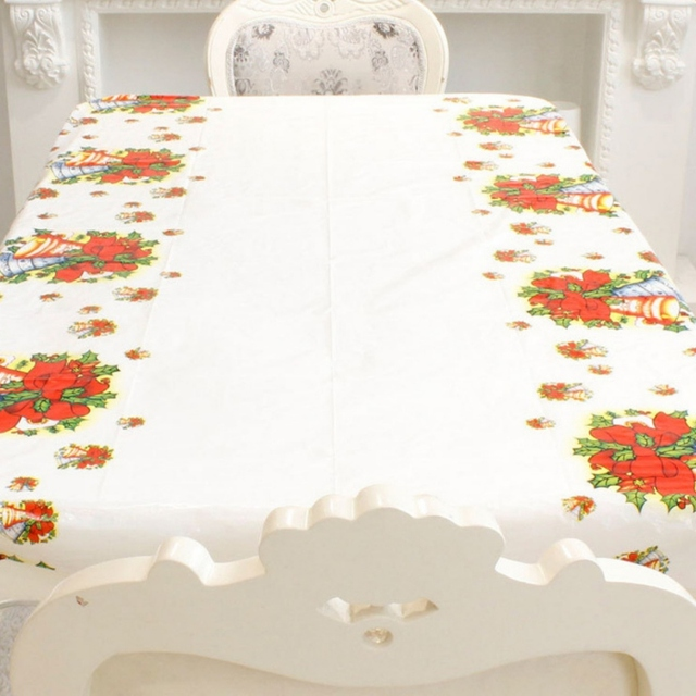 Christmas Tablecloth Festive Decoration Disposable Tablecloth Fashion Table Cloth Xmas Tableware Dining Kitchen Table Cover New  sc 1 st  AliExpress.com & Christmas Tablecloth Festive Decoration Disposable Tablecloth ...