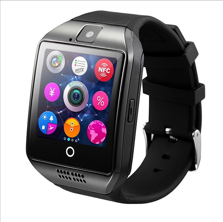 Smartch New Q18 Passometer Smart watch with Touch Screen camera TF card Bluetooth smartwatch for Android IOS Phone T30