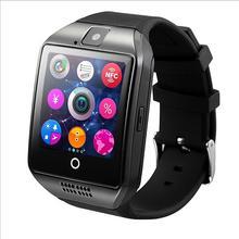 Дешевые Smartch Новый Q18 Шагомер Смарт часы с Сенсорный экран камера TF карта Bluetooth SmartWatch для Android IOS Телефон T30