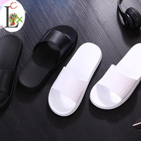 big size36-45 Women sandals Fashion slippers Prevent wear-resisting beach Lovers shoes men cartoon wholesale white black