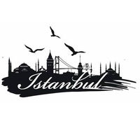 ISTANBUL City Decal Landmark Skyline Wall Stickers Sketch Decals Poster Parede Home Decor MosqueSticker