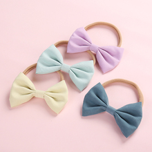 Dejorchicoco 5pcs/lot Kids Girls Headband Handmade Big Bow Hair Band With Nylon Head Band Headwear Hair Band Accessories 5pcs lot epu asp0903 power management chip