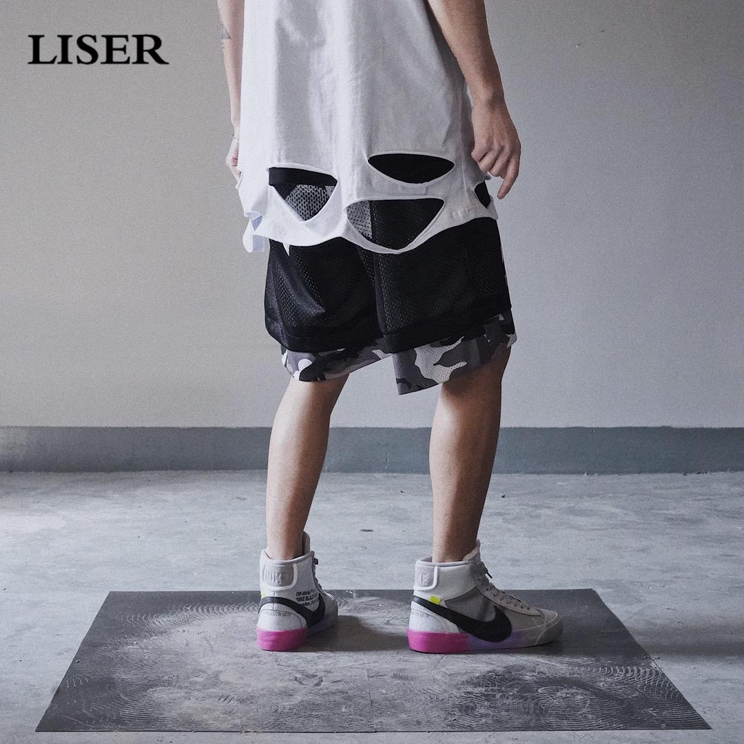Liser Shorts Men 2019 Summer Double-Sided Wear Joggers Camo Cargo Shorts Men Streetwear Sweatpants Casual Short Pants