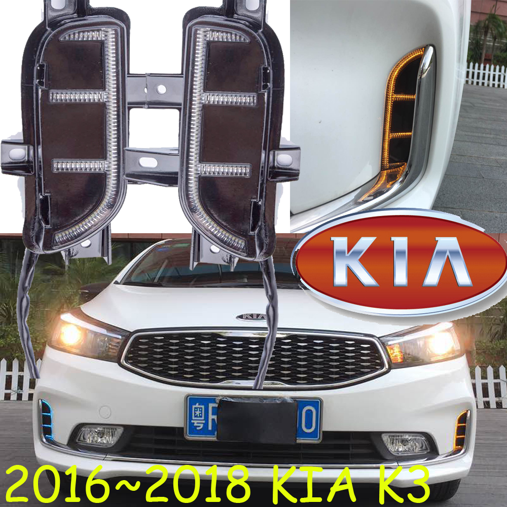 LED Headlight2016~2017 KlA K3 daytime light,Free ship!LED,KIA k3 fog light,kia ceed,2ps;kia k 3;K5,K2,K7,Sorento,kia cerato,K3S kia ceed автомобили с пробегом