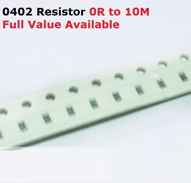 500PCS/lot SMD Chip 0402 Resistor 6.8M/7.5M/8.2M/9.1M/10M/Ohm 5% Resistance 6.8/7.5/8.2/9.1/10/M Resistors 6M8 7M5 8M2 9M1