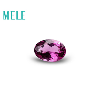 MELE Natural pyrope for jewelry making,red garnet 5mmX7mm Oval cut and 1ct weight,Diy loose gemstones with hight quality image