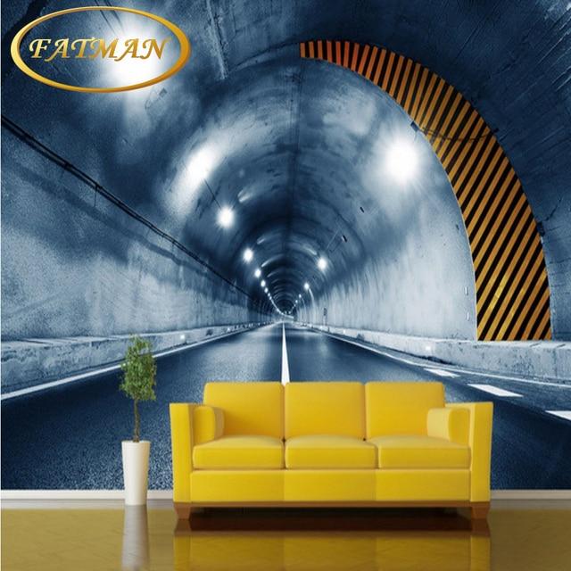 Benutzerdefinierte 3D Fototapete Time Tunnel Lane Tapete Wandbild  Wohnzimmer Schlafzimmer Badezimmer Korridor Kaffee Haus Tapeten