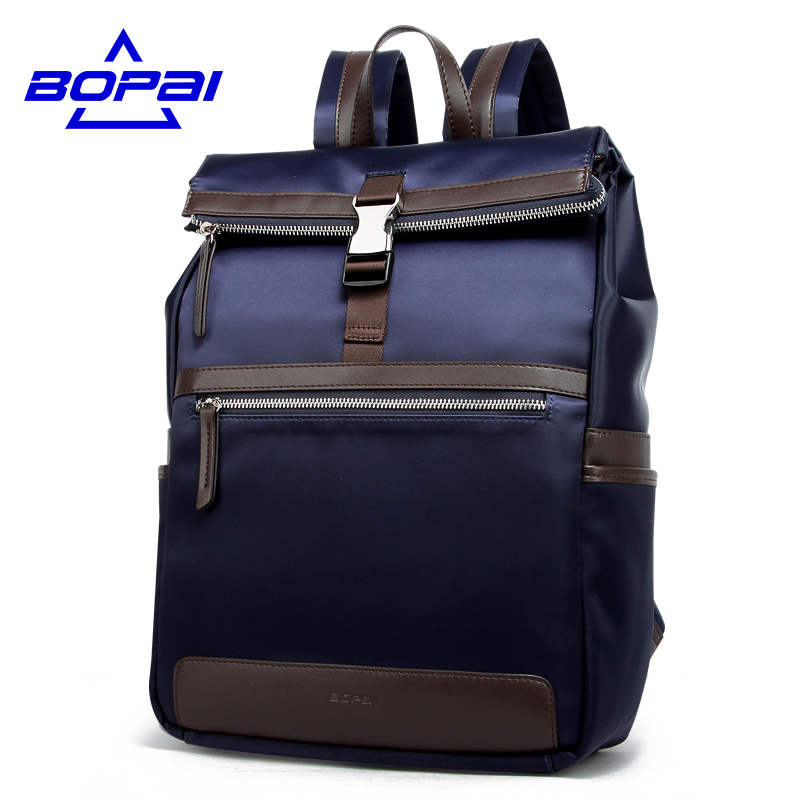 BOPAI Multifunction men backpack fashion youth korean style shoulder bag laptop backpack schoolbags for teenager girls boys men backpack student school bag for teenager boys large capacity trip backpacks laptop backpack for 15 inches mochila masculina