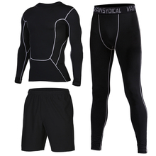 Mens Compression Sport Suit GYM Tights Dry Fit Running Sets Training Sports Workout Jogging Tracksuit for Men