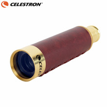 Buy Celestron 25X30 Pirate Monocular Bronze Telescope High-power Spyglass HD Portable Stretch Hunting Outdoor with Wooden Gift Box