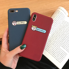 silicone case for iPhone 6 6s soft TPU simplicity couple head icon frosted touch original cute cover friends 360 protective