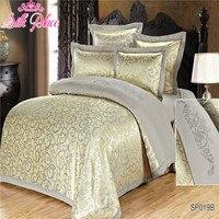 Europe Fashion Jacquard Bedding Russian Brand Silk Place Quality Set Duvet Cover Bedsheet Pillowcase Family 5