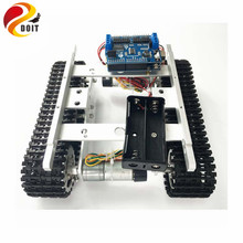 T100 Crawler Tank Chassis Controlled by WiFi Android iOS Mobile Phone APP with Ar-duino Development board+Motor Drive Board DIY