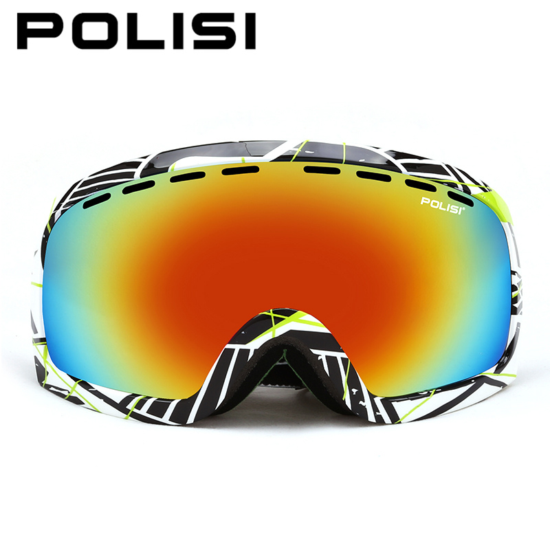 POLISI Men Women Ski Goggles Polarized Double Layer Lens Snowboard Skiing Glasses Outdoor Winter Snow Skiing Skateboard Eyewear topeak outdoor sports cycling photochromic sun glasses bicycle sunglasses mtb nxt lenses glasses eyewear goggles 3 colors