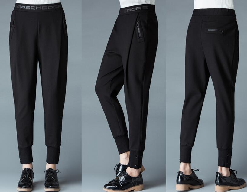 Pantalones Nueva Cintura De Vender Las Negro La 2019 Harlan Boca Moda Nabo Elástica Otoño Como Pan Viga Mujeres Caliente invierno Tfq8PTO