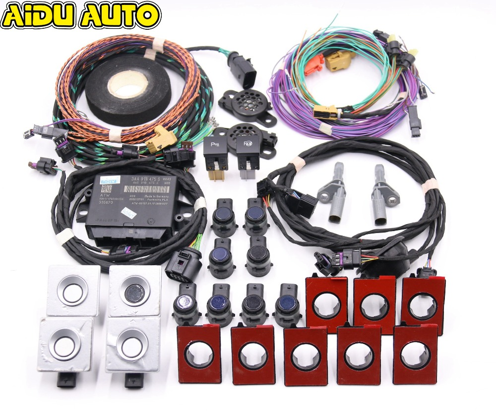 Auto Intelligent Parking Assist Park Assist PLA 2.0 Park Pilot Front & Rear OPS 12K USE FOR VW Golf 6 Jetta MK6 use fit for golf 6 jetta mk6 auto intelligent parking assist 12k park assist pla 2 0 upgrade ops install harness wire