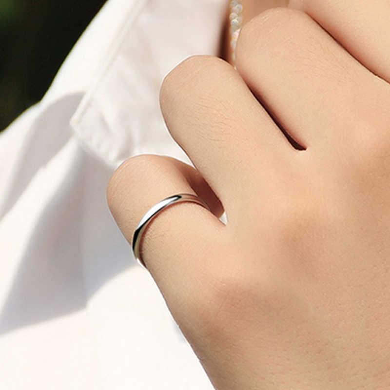 LNRRABC 2018 nowy 1PC Hot pary pierścienie rocznica dla alergików 4 kolory Alloy proste Unisex ślub kobiety mężczyźni stałe Jwelry prezent