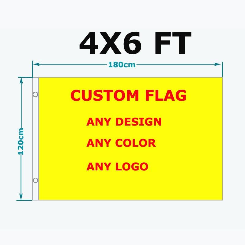 Livraison gratuite personnalisé drapeau 120*180 cm Polyester Personnaliser Drapeaux Et Bannières