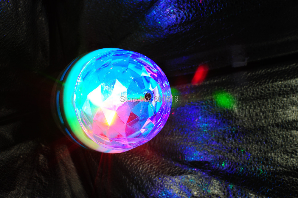 E27 RGB LED Rotating Stage Crystal Ball LED Light Lamp for DJ/Disco//Party 3W