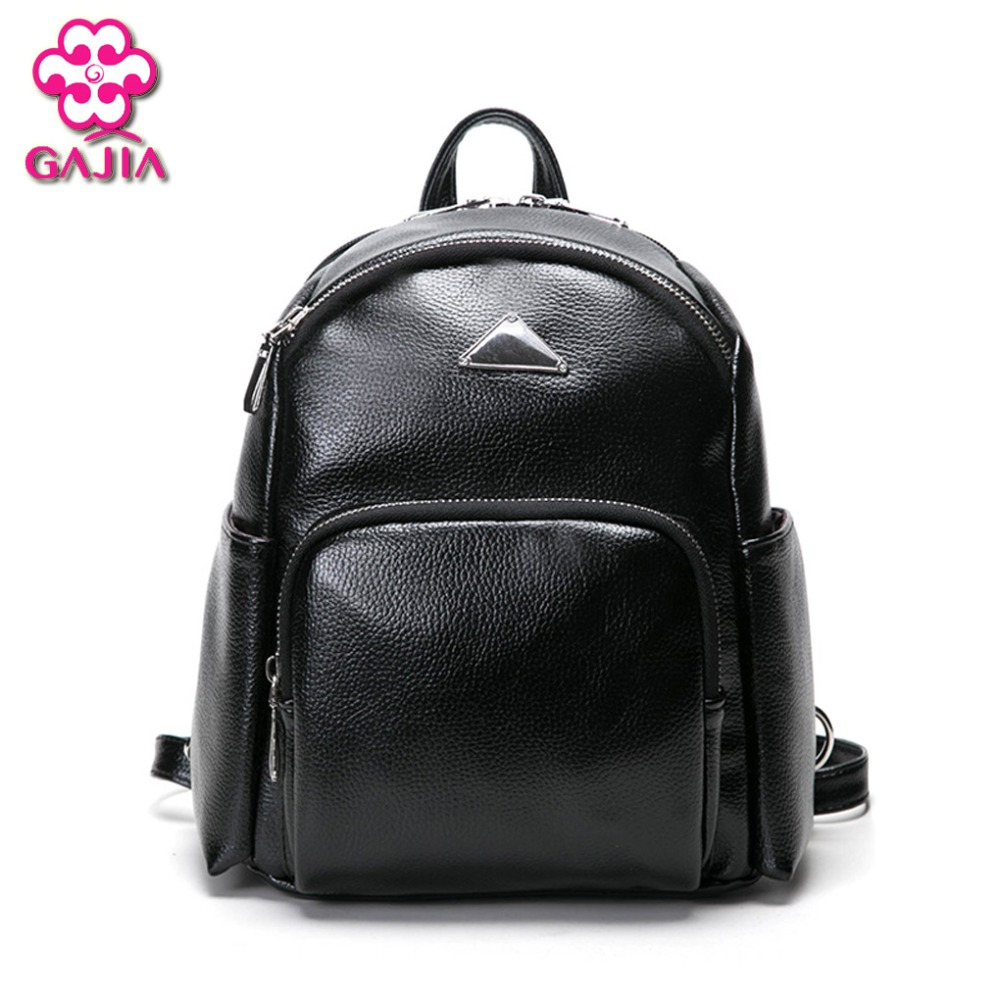 GAJIA 2017 New Fashion Women Backpack High Quality PU Leather Patchwork School Bags For Teenagers Girls