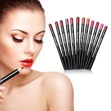 12 Colors/Set Stylish Black Stick Waterproof Lasting Lip Liner Pencil Set Beauty Makeup