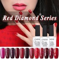 10ml UV Gel Nail Polish Red Diamond Series UV Lamp Soak off Gel Polish Gel Lak Vernis Semi Permanent Gelpolish