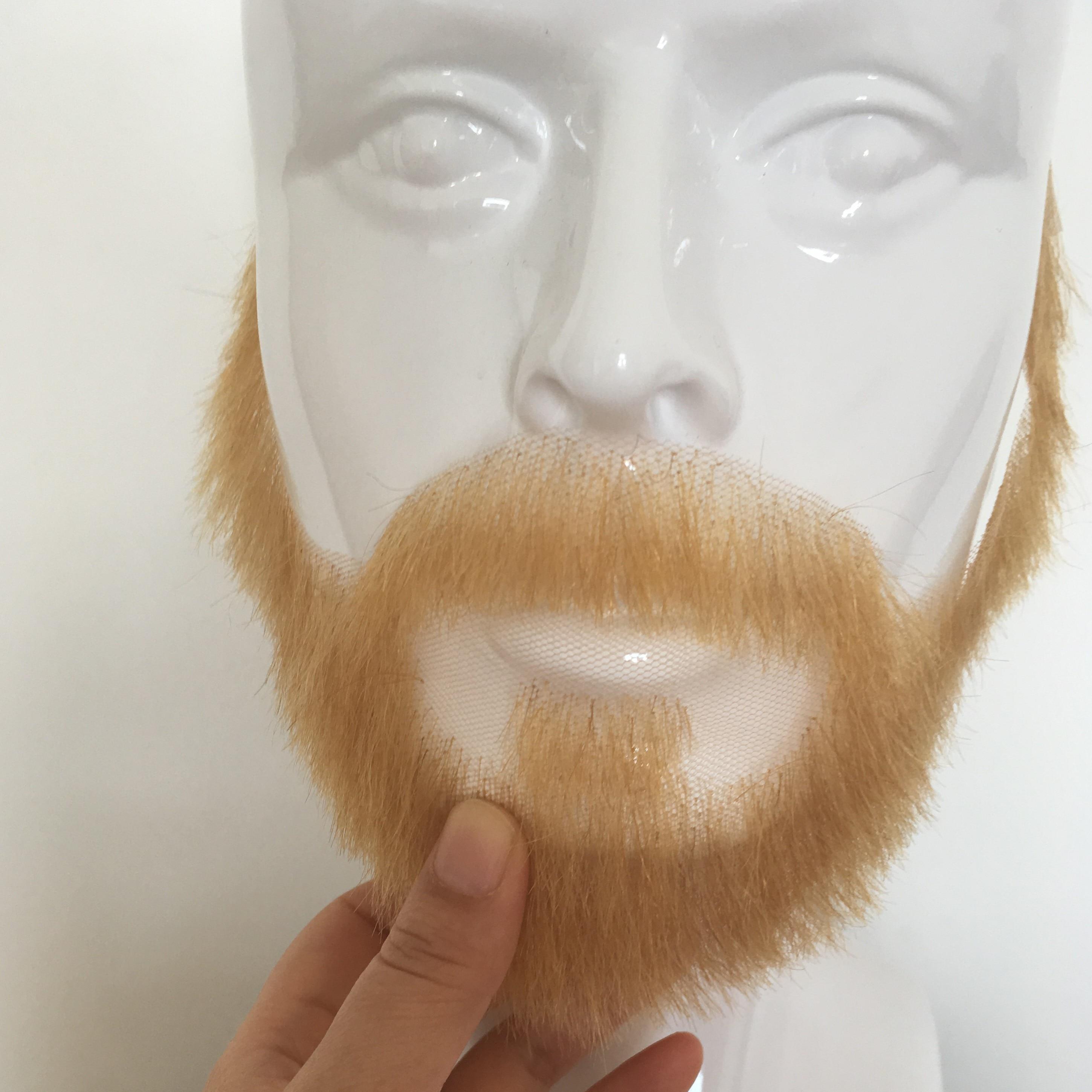 Black Fake Beard Mustache Eyebrows Self Adhesive Facial Hair set