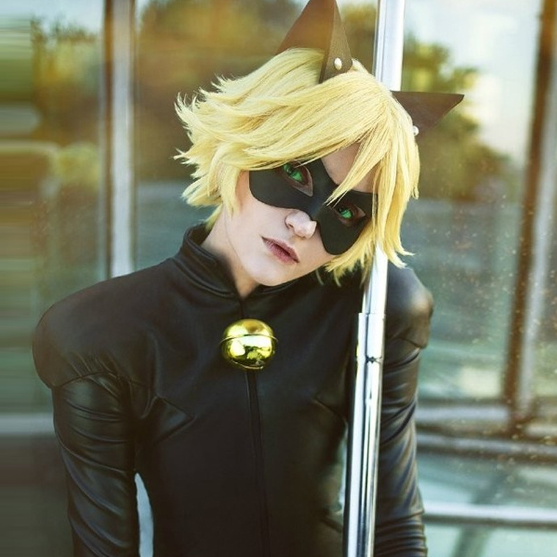 Kids Boy Miraculous Ladybug Costume Cat Noir with Mask Ladybug Cat Cosplay Costume With Mask And