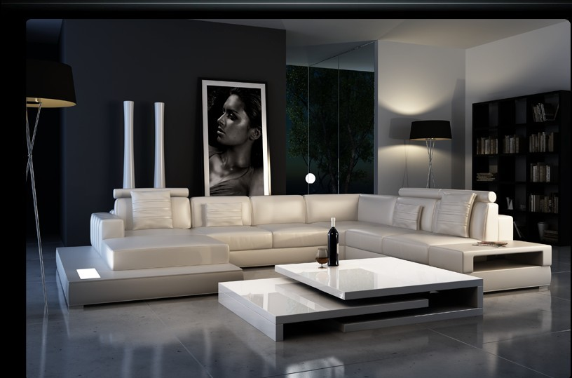 Luxury Modern Genuine Leather Sofa In Living Room Sofas From