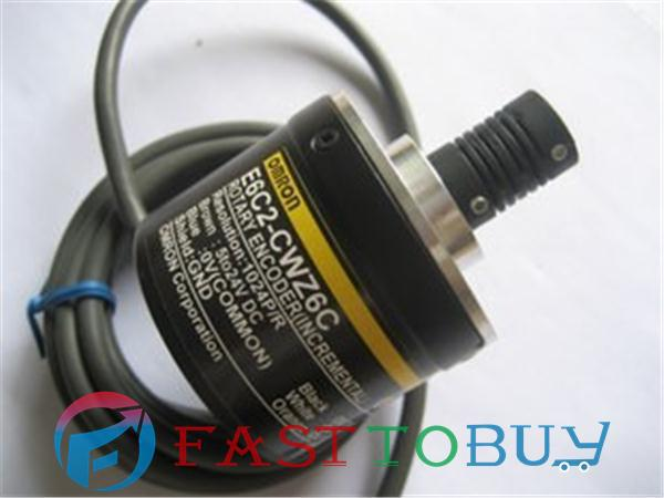 E6C2-CWZ6C Rotary Encoder 5000P/R 2M 5~24VDC New e6a2 cs5c 50p r rotary encoder new e6a2cs5c 50p r 50pr compact size e6a2 cs5c