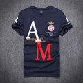 Alta calidad 2016 nuevo estilo Del verano Del O-cuello de los hombres aeronautica militare air force one camiseta marca camiseta camiseta ropa