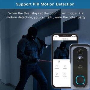 Image 4 - WiFi Akıllı Video Kapı Zili Kamera Ev Güvenlik Monitör Gece Görüş Video Interkom SmartLife APP Kumanda Üzerinden iOS Android Telefon