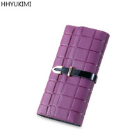 Top Quality Leather Long Wallets Casual Wallet Women Vintage Designer Purse Clutch Money Clips Western Style