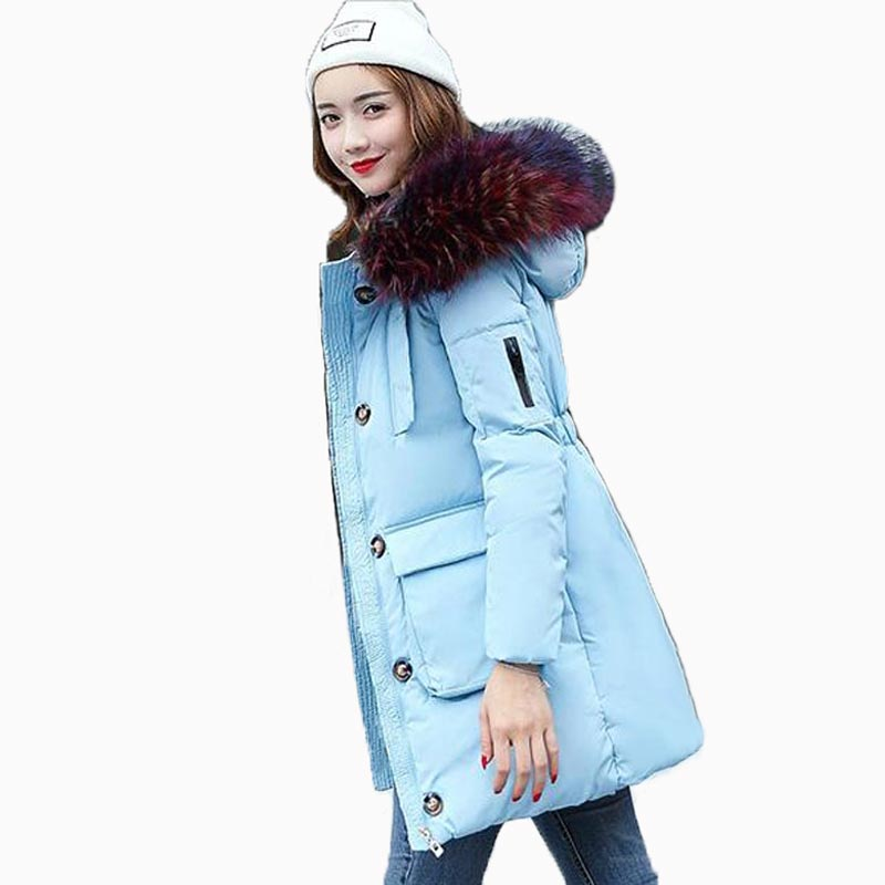 2017 winter Jacket women cotton-padded medium-long slim women's outerwear thickening large fur collar thicken Down&Parkas Coats 2015 winter jacket women cotton padded jacket women fur collar ladies winter coat thickening outerwear long denim parkas h4451