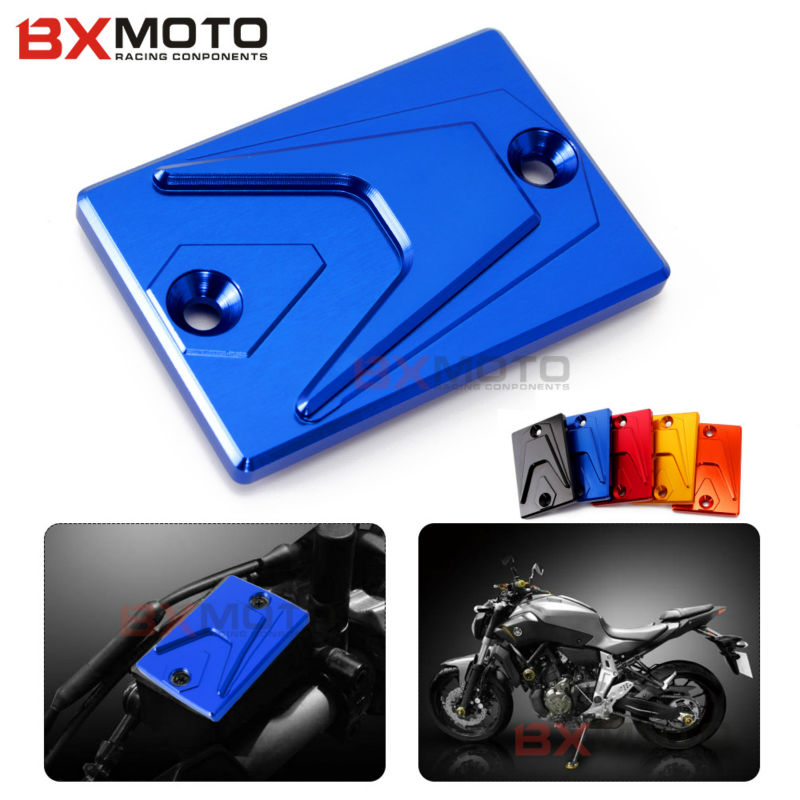 цена на For Yamaha MT-07 MT-09 FZ1 FZ1S FZ6 S2 FJR1300 FZ8 Motorbike accessories CNC Blue Brake Clutch Cover Front Brake Clutch Oil Cap