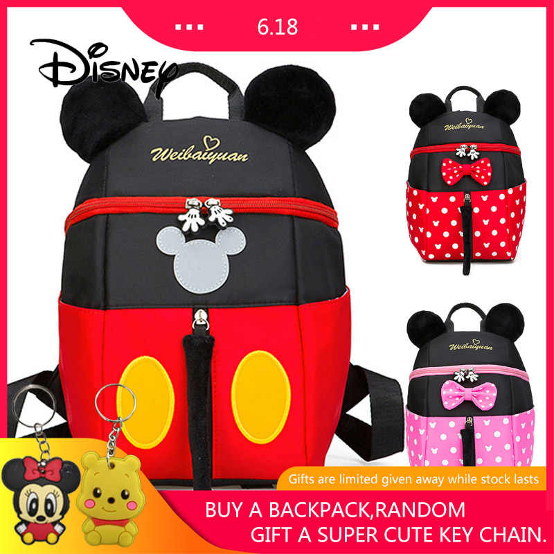 005b6b611 Disney Student Kindergarten Bags Cute Cartoon Baby School Bag Mickey ...