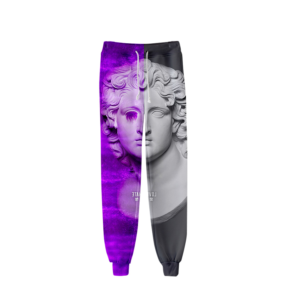 2019 Vaporwave Style Pants Men Hip Hop Pants Trousers Kpop Fashion Casual High Quality Casual Warm Pants Slim Beer Pants